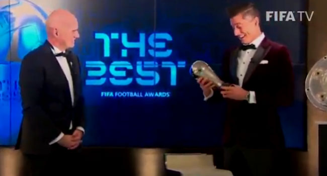 Lewandowski Beats Ronaldo, Messi To Win FIFA Best Player Award