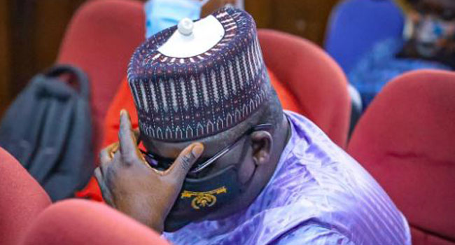 A file photo of ex-pension boss Abdulrasheed Maina.