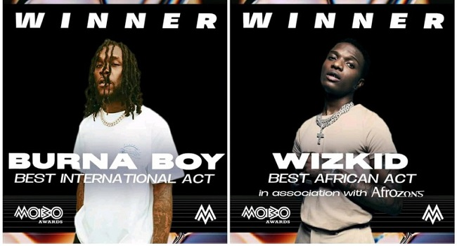Burna Boy, Wizkid Win Big At 2020 Mobo Awards