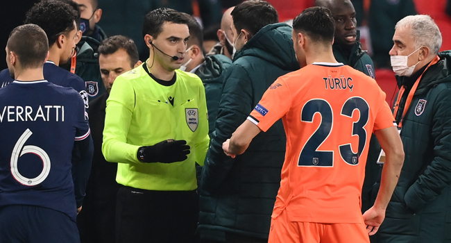 PSG Vs Basaksehir Champions League Game Suspended Over Alleged Racist Abuse By Official