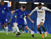 FK Krasnodar's Brazilian midfielder Maciel Sousa Campos (R) vies with Chelsea's Scottish midfielder Billy Gilmour (C) during the UEFA Champions League Group E football match between Chelsea and FK Krasnodar at Stamford Bridge in London on December 8, 2020. Ben STANSALL / AFP