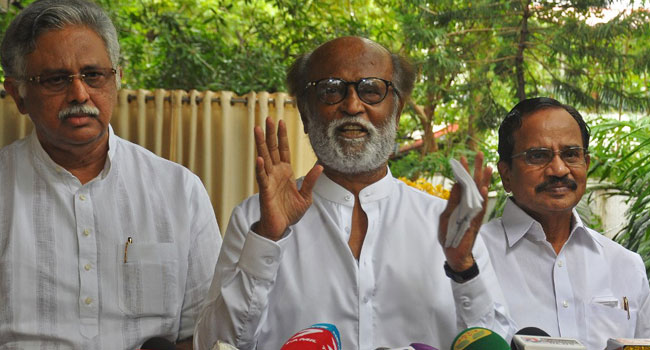 Indian Action Hero Rajinikanth Enters Political Fray, Vows Corruption-Free Government