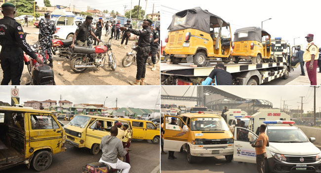 Lagos' Anti-One Way Squad Impounds 42 Vehicles In Friday Traffic Law Enforcement