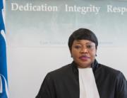The International Criminal Court's prosecutor, Fatou Bensouda.