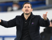 Chelsea's English head coach Frank Lampard gestures on the touchline during the English Premier League football match between Everton and Chelsea at Goodison Park in Liverpool, north west England on December 12, 2020. PETER POWELL / POOL / AFP