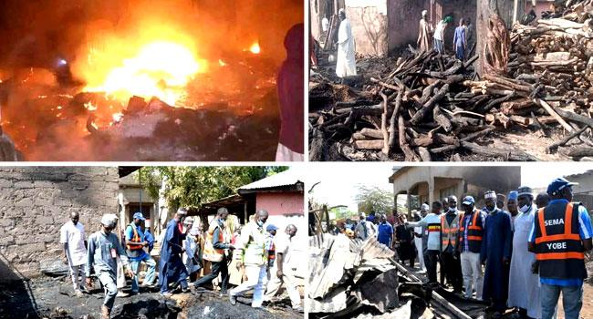 PHOTOS: 36 Shops, Stalls Razed In Yobe Market Fire