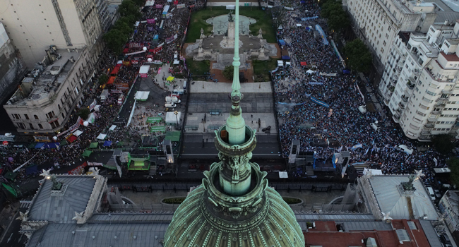 Argentine Senate Approves Bill To Legalize Abortion