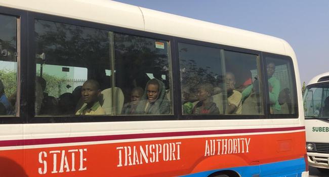 Freed Kankara Schoolboys Arrive At Government House Katsina