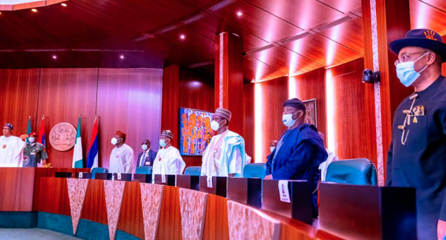 PHOTOS: Buhari In Closed-Door Meeting With 36 State Governors