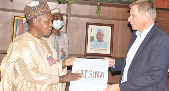 Masari Seeks Support From Belgian Govt To Boost Agriculture, Livestock