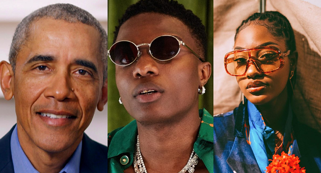 Wizkid, Tems Make Barrack Obama's List Of Favourite Music Of 2020