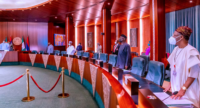 FEC Holds In Abuja, Members Observe A Minute Silence In Honour Of Three Late Ex-Ministers