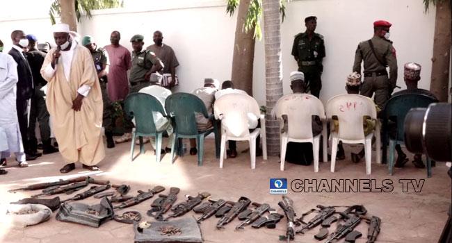 Seven Notorious Bandits Repent, Surrender Weapons In Zamfara