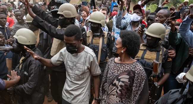 Ugandan Opposition Candidate Bobi Wine Says His Home Is 'Under Siege'