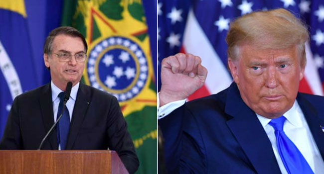 Brazil's Bolsonaro Backs Trump Fraud Claim After Unrest