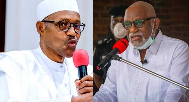 Akeredolu Asks FG To Tackle Insecurity, Warns 2023 Polls Might Be Threatened