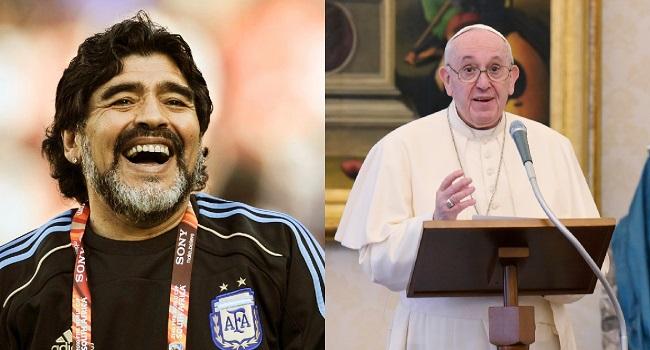 "Pope Francis Recalls His Youth Playing Football, Dubs Maradona ""Poet"""