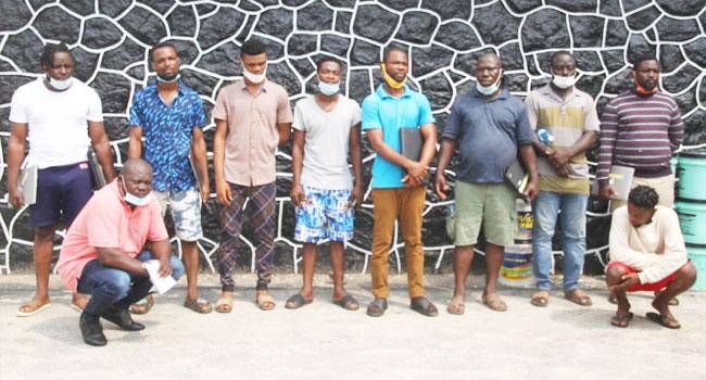 10 Suspected Internet Fraudsters Arrested In Lagos