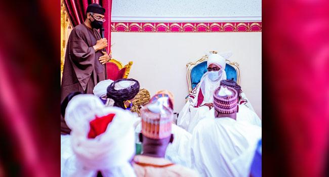 Gbajabiamila Visits Zazzau Emir, Condoles With Monarch Over Death Of Princes