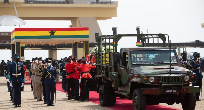 In Pictures: Ghana's Jerry Rawlings Buried With Military Honours