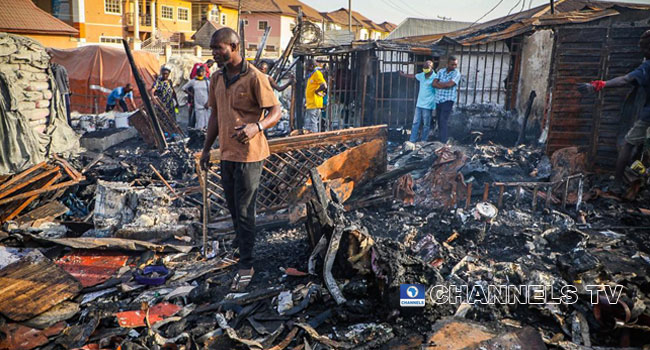 Fire Guts Houses, Shops And Goods Worth Millions In Gwarinpa, Abuja