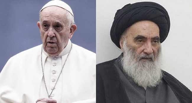 Pope To Meet Top Shiite Cleric Sistani On Iraq Visit- Cardinal