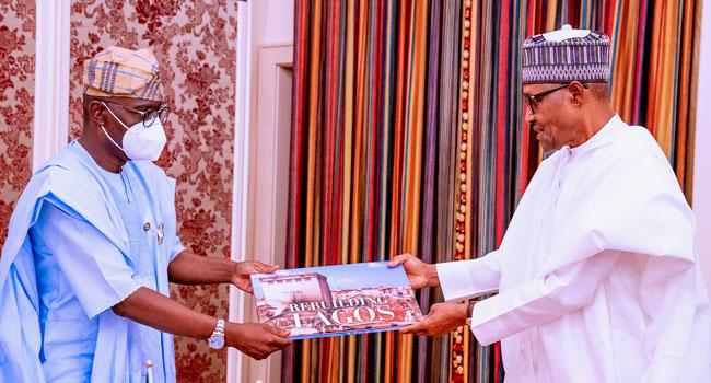 Sanwo-Olu Meets Buhari, Seeks FG's Collaboration On Rebuilding Lagos
