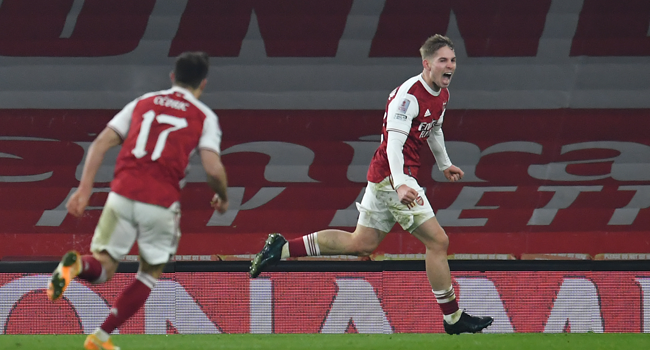 FA Cup: Smith Rowe Fires Arsenal Into Fourth Round