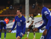 Chelsea's English midfielder Mason Mount celebrates scoring the opening goal during the English Premier League football match between Fulham and Chelsea at Craven Cottage in London on January 16, 2021. Clive Rose / POOL / AFP