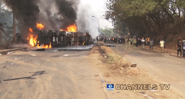 At Least Three Dead After Fuel Tanker Explodes In Abeokuta