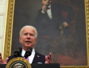 U.S. President Joe Biden speaks during an event at the State Dining Room of the White House January 21, 2021 in Washington, DC. Alex Wong/Getty Images/AFP