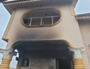 Mr Sunday Igboho's house was engulfed in flames on January 26, 2021.