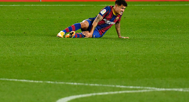 Barcelona's Coutinho Out For Three Months