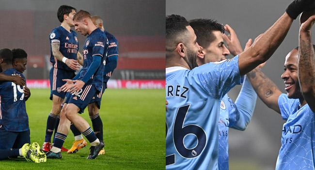 EPL: Man City Go Top, Arsenal Gain Revenge On Southampton