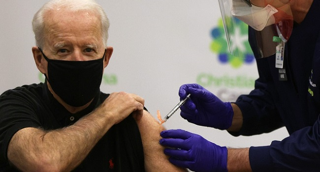 US President-Elect Joe Biden Receives Second COVID-19 Vaccine Shot