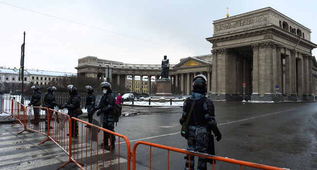Police Lockdown Moscow, Other Cities To Prevent Navalny Protests