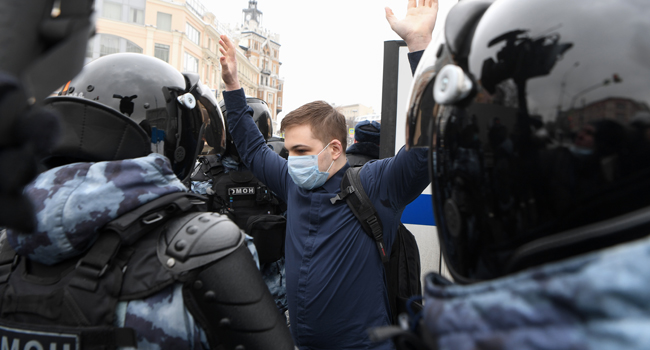 US Frowns At Russia's 'Harsh' Tactics Against Protesters
