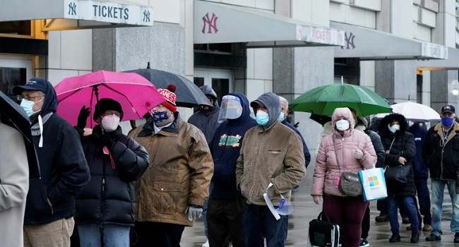 Yankees Stadium Becomes Vaccination Site For New York's Poor