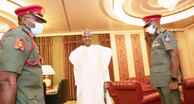 President Buhari's New ADC Resumes Duties In Abuja