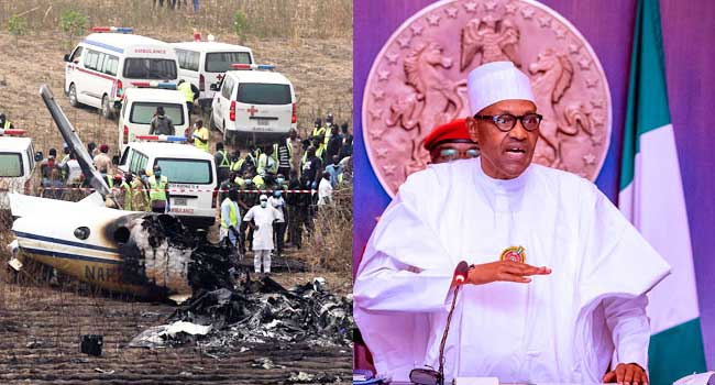 Safety Of Airspace Remains A Priority, Buhari Mourns Plane Crash Victims