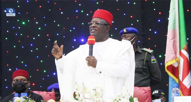 Umahi To Ebonyi Youths: Remove Your Minds From Politics, Succeed First