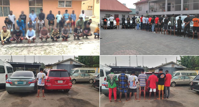 EFCC Arrests 35 Suspected Fraudsters In Lagos, Benin And Rivers