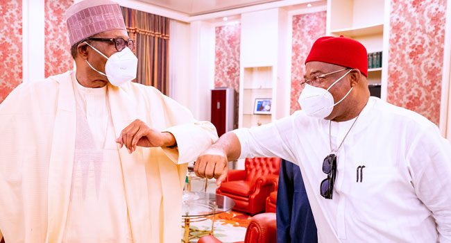 UPDATED: Buhari Receives Imo State Governor, Hope Uzodinma, In Abuja