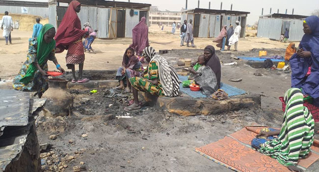Three-Year-Old Killed, Houses Destroyed As Fire Guts IDP Camp In Maiduguri