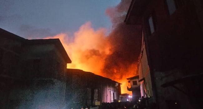 Fire Guts Warehouses At Iddo Railway Terminal