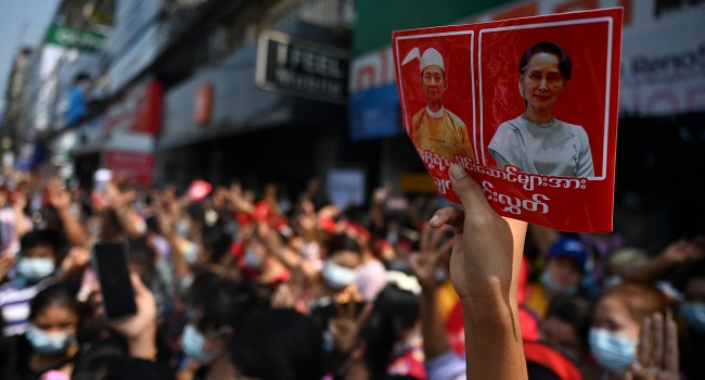 Myanmar Anti-Coup Protests Grow As Army Broadens Internet Crackdown