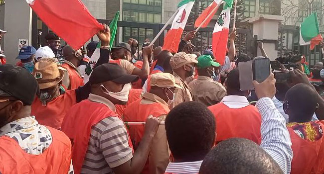 NLC Stages Protest At Corporate Affairs Commission HQ In Abuja