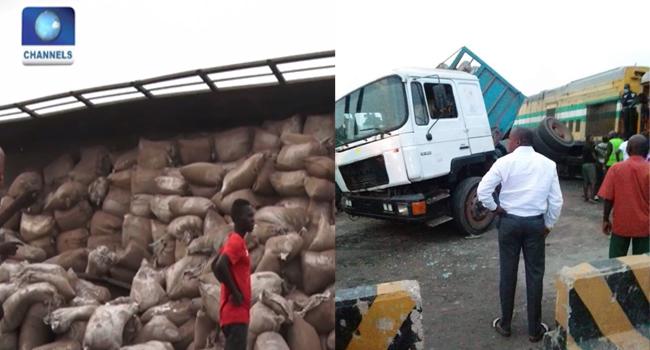 Train Collides With Truck In Iju-Ishaga, Lagos