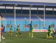 Enyimba's Tosin Omoyele scores opening goal in a 2-1 win over Plateau United on February 6, 2021.