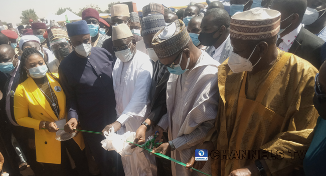 Dignitaries, including Transportation Rotimi Amaechi, were present at the commissioning of the Kano to Maradi railway on February 9, 2021.
